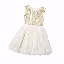 Vestido De Nena De Tul Con Lentejuelas -
