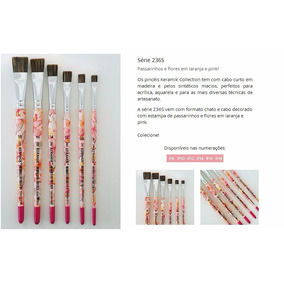 Pincel Para Carga Dupla Keramik Serie Decorada - Rosa 10
