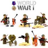 6 Bonecos Do Exército + Armas, Canhão, Cão De Caça E Cavalo