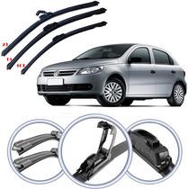 Kit Limpador Para-brisas Volkswagen Gol G5 2011/... 3 Pcs