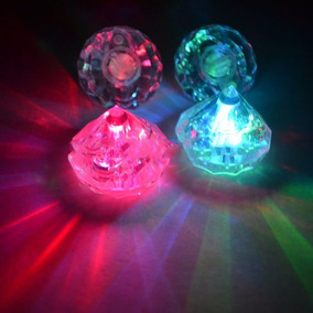 Hielos Led Forma Diamantes Bebidas Luminosas