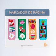 Kit 4 Marcadores De Páginas Magnéticos Artesanais Exclusivos