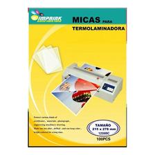 100 Micas Termolaminadora  215x278mm/125mic Con Detalle
