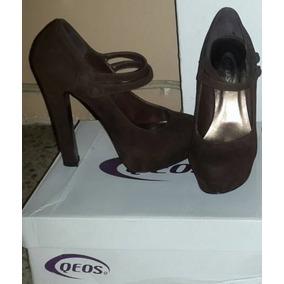 Zapatos Tacones Queos Marrones Talla 37