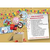 300 Etiquetas Personalizadas+banderin Delivery