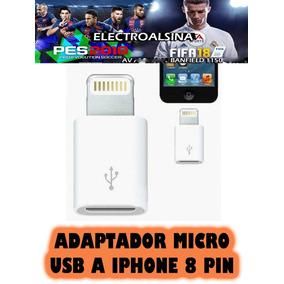 Adaptador Micro Usb A Iphone 8 Pin Merlo San Luis