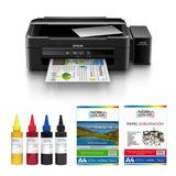 Impresora Epson L380 + Papel Matte Tintas Sublimación 70 Ml.