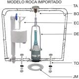 Conjunto Repuesto Mochila Roca Capea Boton Superior Completo