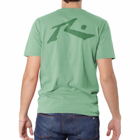 Remera Rusty Vintage Competition Pack X 2 Cm Verde Y Gris
