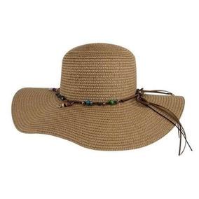 54f763c2cf Sombrero Para Playa Color Cafe Arroz Marca Holly Wy522
