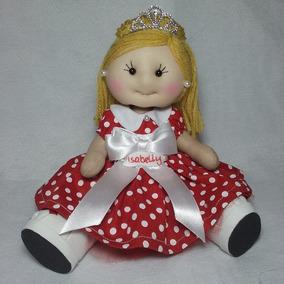 Princesa Artesanal Personalizada Enfeite Decoração