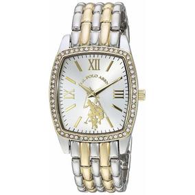 Reloj U.s. Polo Assn. Metal Mujer Dama Plata- Oro Usc40245az