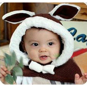 Lindo Bebé Niñas Niños Conejo Coreano Abrigo... (brown)