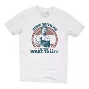Camiseta Musculação Arnold Come Whit Me