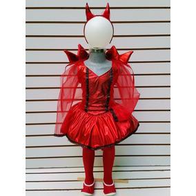 Disfraz Niña Talla 7/8 Años Diabla Vestido Mallas Hallowen