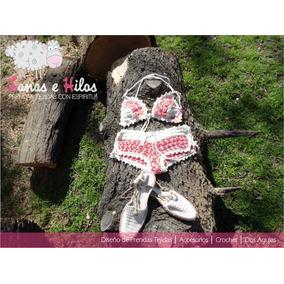 Top Bikini Tejida Crochet + Sandalias Promo