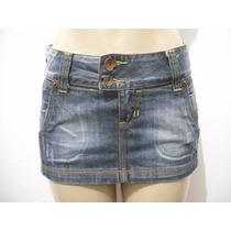 Mini Saia Jeans Curta Lança Perfume Tam 38 Usado Bom Estado