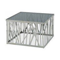 Mesa De Centro Modrest Bamboo Contemporary Stainless Steel