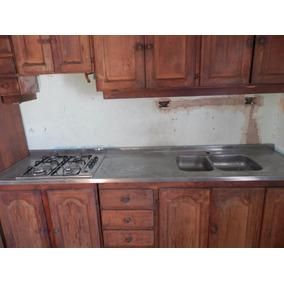 Muebles Cocina Acero Inoxidable Bajo Mesada Estantes - Muebles ...
