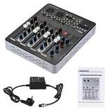 Bluetooth 4 Canales Mic Audio Mezclador Consola Eq De 3