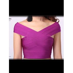 Blusa Bandagem Cropped Pink - Verificar Disponibilidade