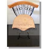 Kit 2 Cadeiras Rústicas Estilo Antiga Reguláveis Giratórias