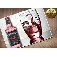 Whisky Bebida Rosa Papel De Arroz Para Bolos A4