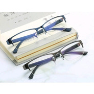 Óculos Masculino Miopia Semi Aro Retangular Anti Stress