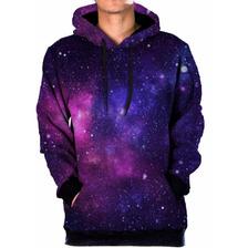 Blusa Moletom Bolso Lateral Galaxia Nebulosa Tumblr Swag 9