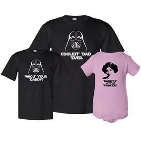 A Trío Playeras Star Wars Para Papá O Mamá E Hijos