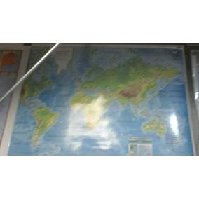 Mapa Mural Laminado Planisferio 95x130 Fisico Microcentro
