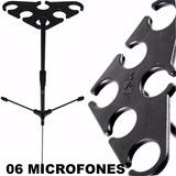 Suporte Ask M6 Arara Descanso 6 Microfones Frete Grátis Br