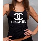 Camiseta Chanel Regata Feminina Personalizada