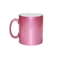Mug Taza Plateada (rosa) Sublimacion