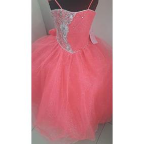 Vestido De Niña Estilo De Quinceañera Tallas 2 A 6