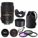 Lente Nikon 55-300mm Vr Dx Af-s F/4.5-5.6 Original + Funda++