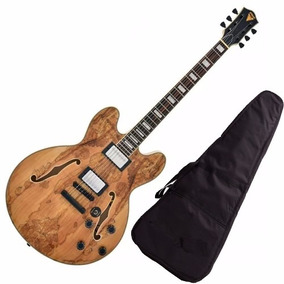 Guitarra Phx Semi Acústica Ac 1 Ac1 Cor Natural + Capa
