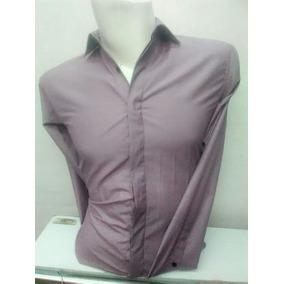 Camisa De Vestir Para Hombre Color Salmon