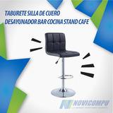Taburete Silla De Cuero Desayunador Bar Cocina Stand