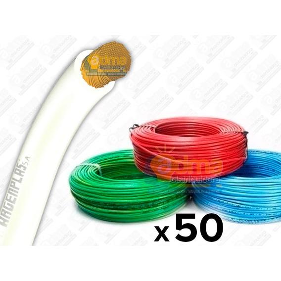 Cable Unipolar 2.5mm Argenplas Normalizado X Rollo 50 Metros Varios Colores!