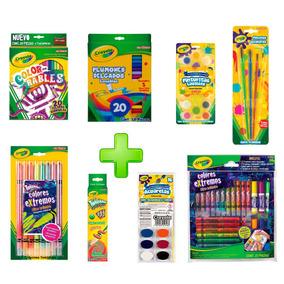 Kit Escolar Papeleria Colores Pintura Secundaria Crayola