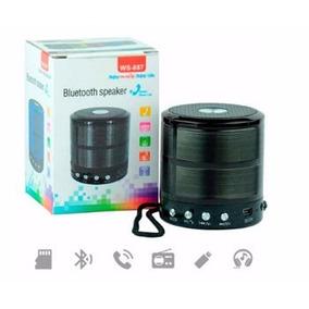 Mini Caixa De Som Speaker Com Bluetooth E Entrada Usb