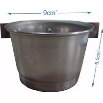 Comedouro De Alumínio Com Aba - Grande - 3 Unidades