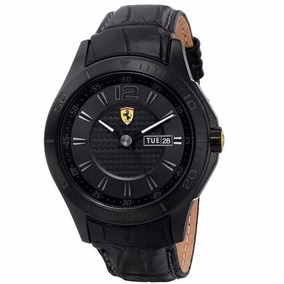 Relógio Ferrari Scuderia Ferrari Pulseira De Couro