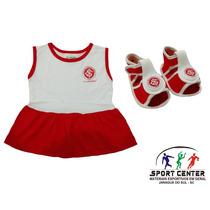 Vestido Para Bebe Inter Com Sandalha Torcida Baby - Promoção