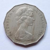 Moneda Dodecadonal Australia 50 Centavos Elizabeth Ii 1981