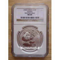 2000 Onza Panda Ngc Ms-69 Plata Pura Certificada .999