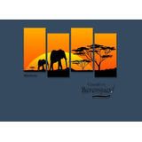 Cuadro Puzzle Long Elefantes Africanos 80x45