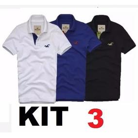 Kit 3 Camisa Polo Masculina *frete Grátis* Atacado Revenda