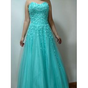 03a3f58d65e4f Vestido Debutantes Azul Tiffany - Vestidos Femininas no Mercado ...